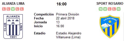 Alianza Lima vs Sport Rosario en VIVO