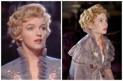 Marilyn Monroe en el principe y la corista y Michelle Williams en una semana con Marilyn