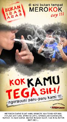 Contoh Poster Dilarang Merokok