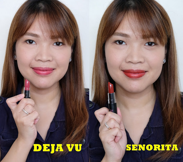 a photo of Pink Sugar Velvet Matte Lipsticks in shades Birthday Suit, Iconic, Gossip Girl, Deja Vu and Senorita Review