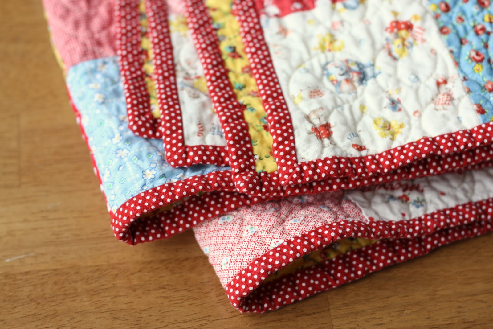 Simple Four Patch Baby Quilt : vintage baby quilt patterns - Adamdwight.com