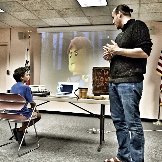 jay vincent, music composer of Ninjago at the van nuys library