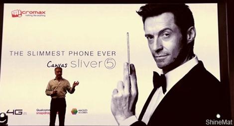 micromax canvas silver 5 slim phone