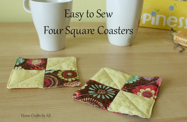 easy to sew four square coasters home crafts by ali