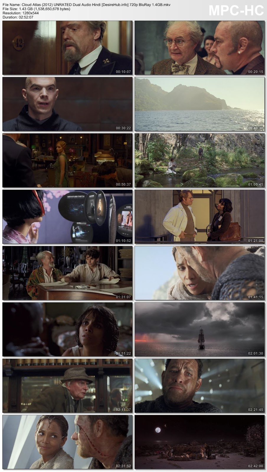 Cloud Atlas (2012) UNRATED Dual Audio Hindi 480p BluRay 500MB Desirehub