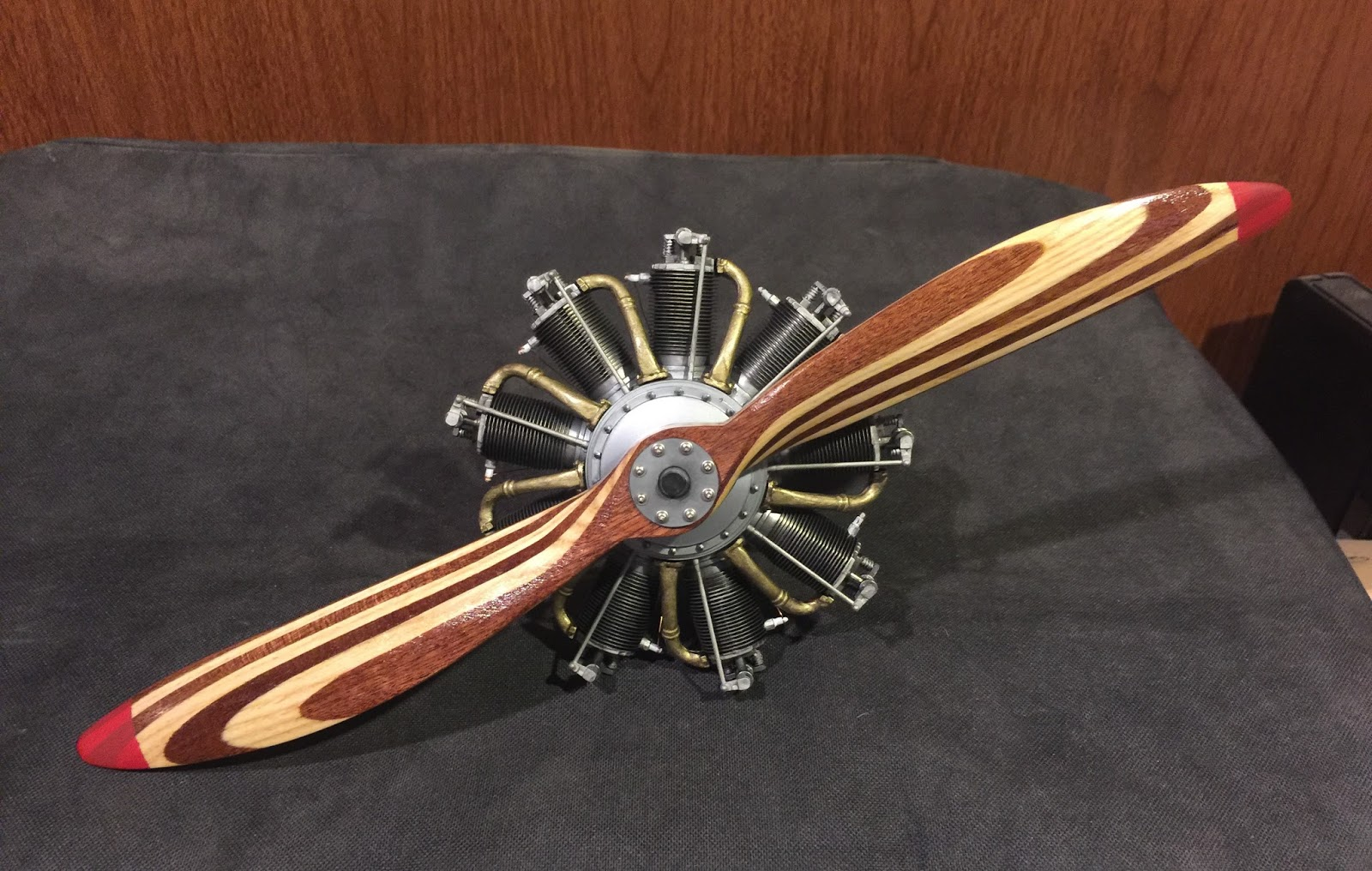 1 6 Scale Sopwith Camel Le Rhone Engine And Propeller