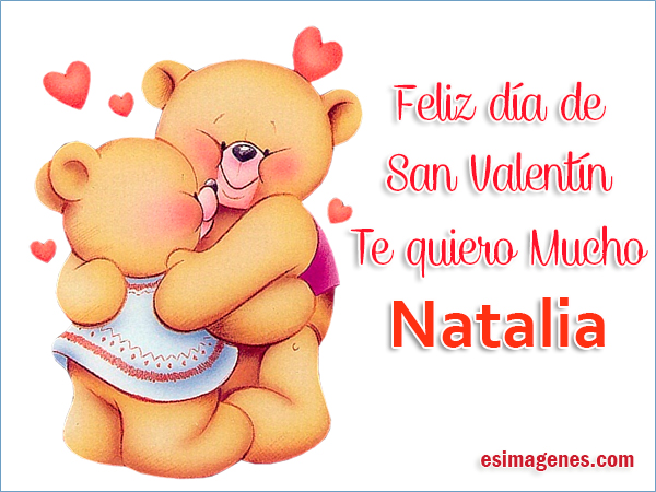 Feliz San Valentín Natalia Tarjetas Con Nombres