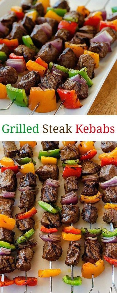 ★★★★☆ 4671 rating     | Grilled Steak Kebabs #Grilled #Steak #Kebabs #Tasty #Yummy