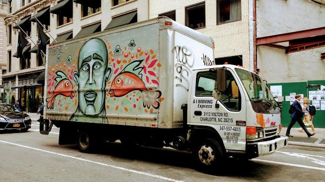 Мурали на вантажівках. Нью-Йорк. (Murals on trucks. NYC)