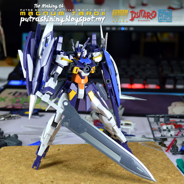 The Making of HGBD 1/144 Gundam AGE II Magnum Custom Build Citadel Paints by Putra Shining