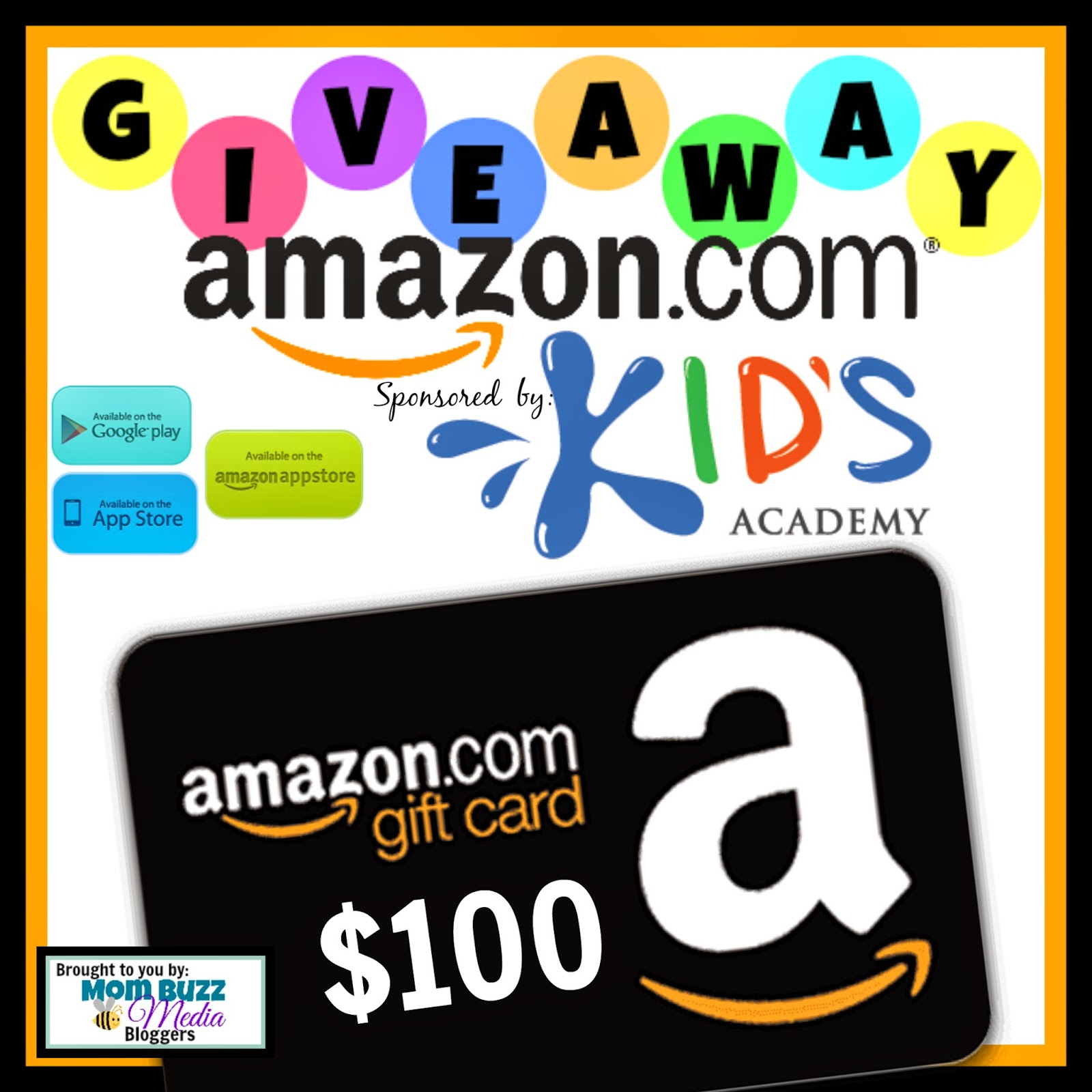Enter the Kid's Academy Amazon Giveaway. Ends 8/31.