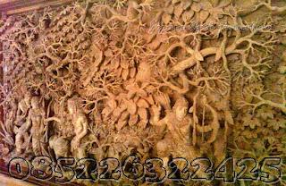 detail ukiran rama sinta berburu jati jepara