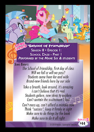 MLP School of Friendship Series 5 Trading Card
