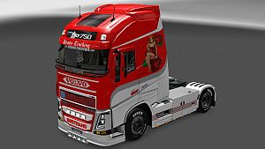 Beauty in the Beast skin for Volvo 2013
