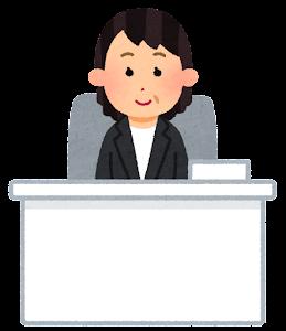 役職のある会社員のイラスト(女性1)