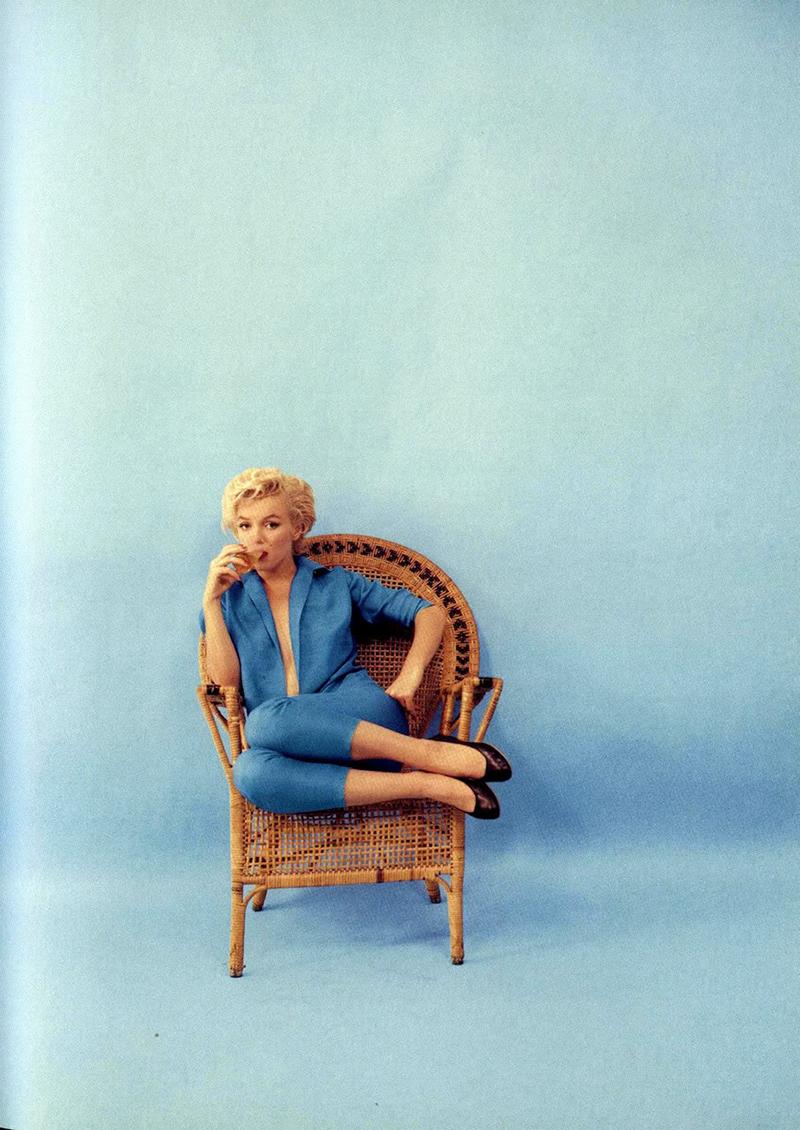 Marilyn Monroe In Blue Beautiful Portraits Of Monroe
