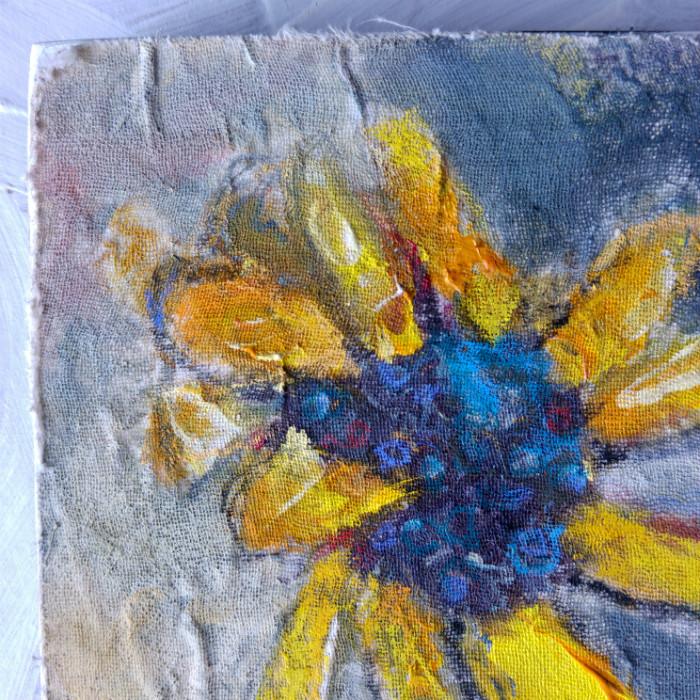 Valentine Love Flower original painting by Joanie Springer 2016 DETAIL