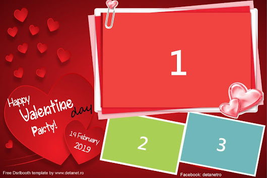Free Dsrlbooth template Happy Valentine day Party