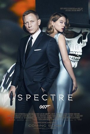 Poster Of Spectre 2015 Multi Audio 720p BRRip [Hindi - English - Tamil - Telugu] Free Download Watch Online