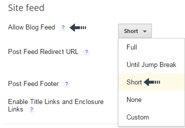 allow blog feed