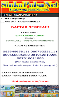 Grosiranpulsa  cari agen Ngawi Magetan Madiun Ponorogo, Pulsa Murah Kalimantan Nasional Sinkapulsa Net