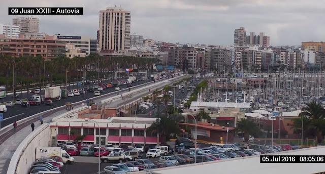 Grandes retenciones por accidente, Torre Las Palmas, 5 julio