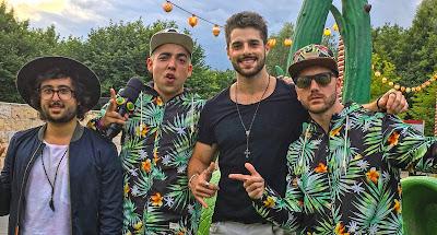 Zeeba, Lucas Selfie, Alok e Daniel Zukerman no festival Tomorrowland - Divulgação/Band