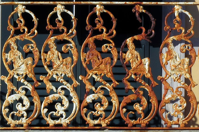 Detail of a balcony railing, Piazza San Jacopo in Acquaviva, Livorno