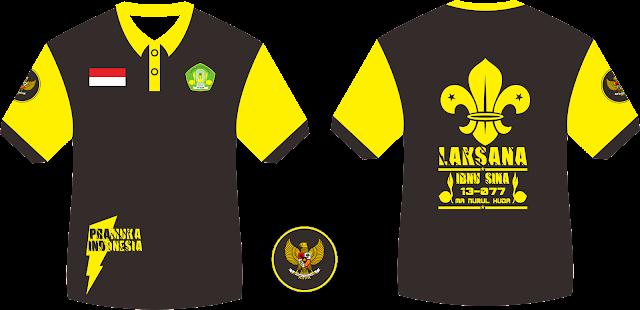 Desain Kaos PDL Pramuka Laksana Laki-laki