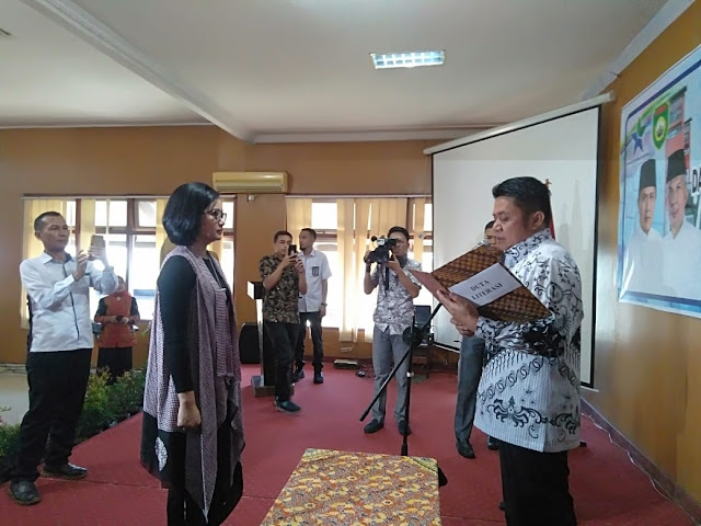 Percha Leanpuri di Nobatkan Menjadi Duta Literasi Sumatera Selatan