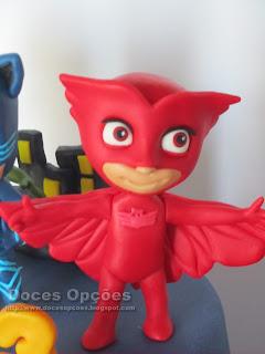 bonecos PJ Masks pasta açucar doces opções bragança