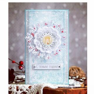 открытка, снежинки, новый год
