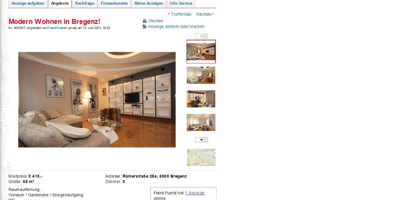 modern wohnen in bregenz. Black Bedroom Furniture Sets. Home Design Ideas