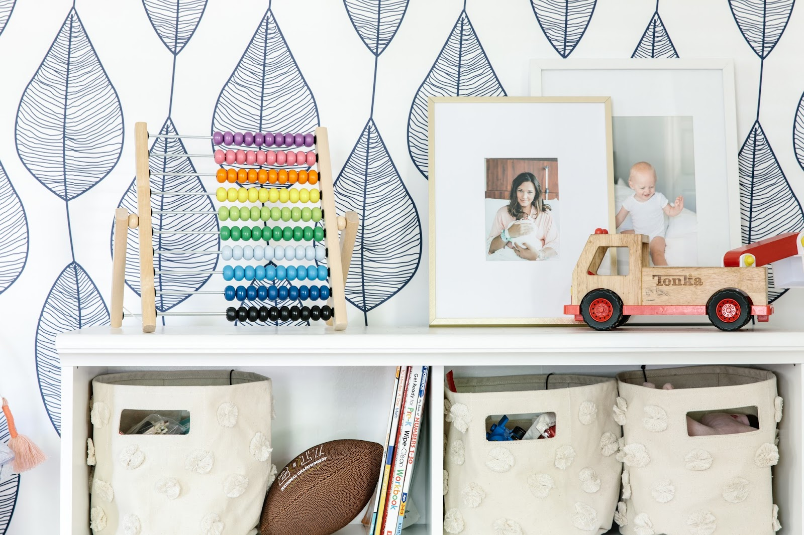 Bright, Fresh, Organized Play Room by Olive and Tate