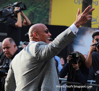 "Dwayne ""The Rock"" Johnson at the San Andreas premiere"