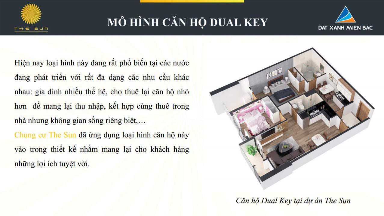 mô hình căn hộ dual key