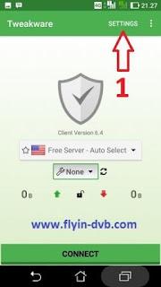 Buka aplikasi Tweakware VPN