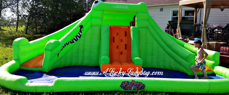 a ladybug on the go blast zone crocodile isle inflatable water park
