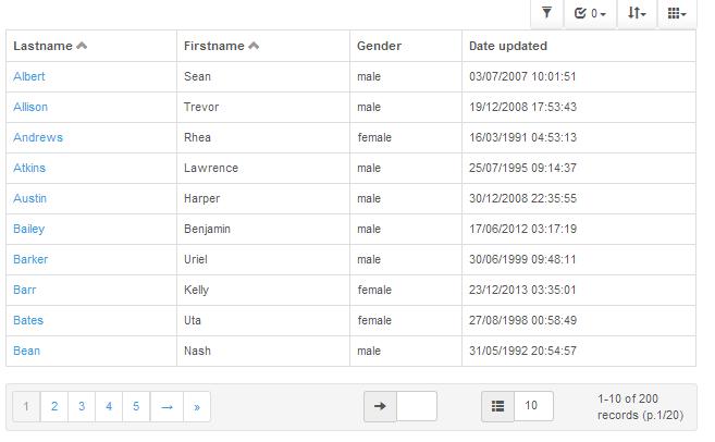 7+ jQuery Grid Plugin Examples or Datagrid Plugin Examples - ASP NET