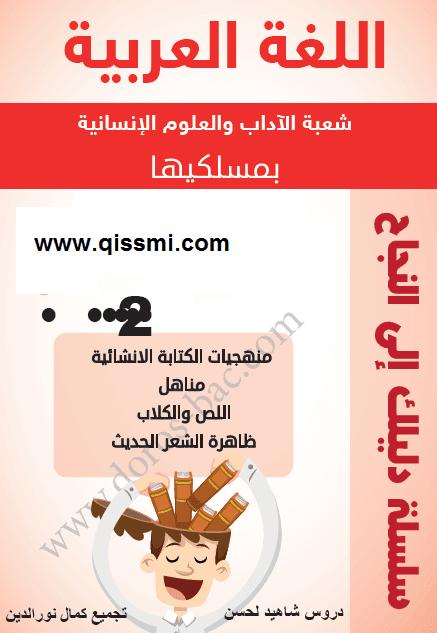 ملخصات دروس اللغة العربية للثانية باك آداب
