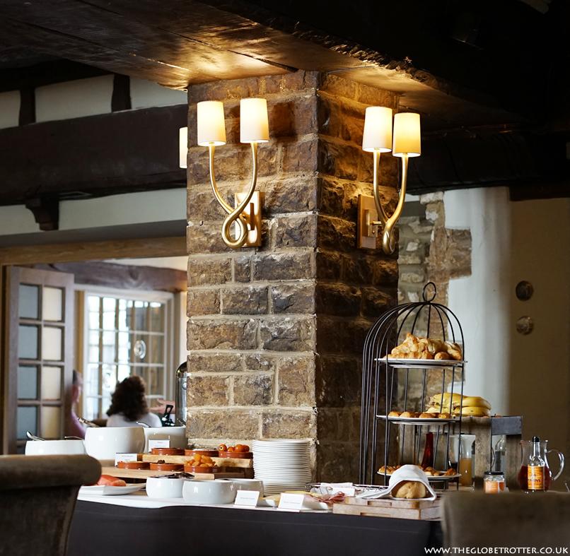 Breakfast buffet at the Macdonald Bear Hotel