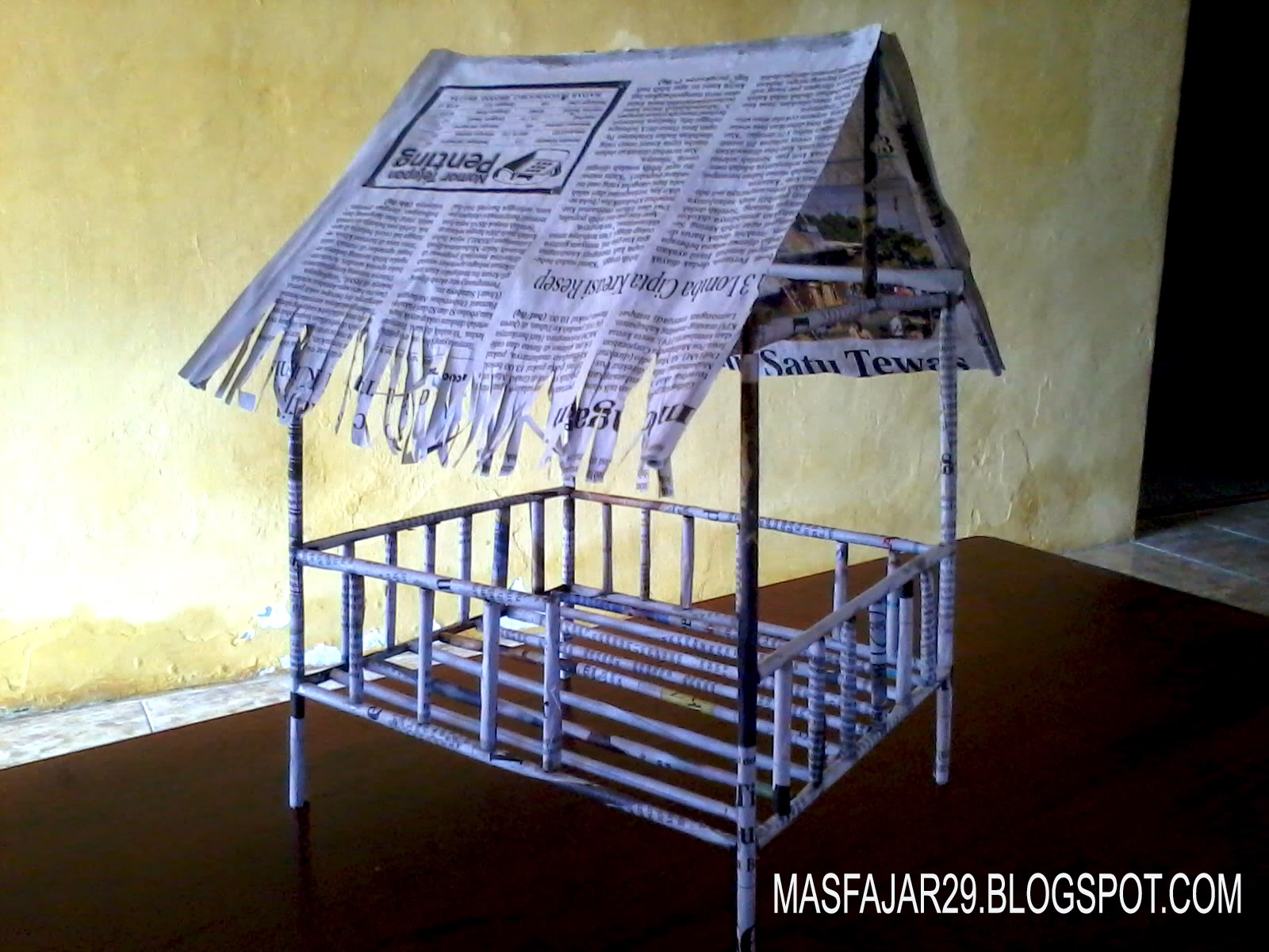 Cara Membuat Rumah Sederhana Dari Koran Bekas Mas Fajar Blog