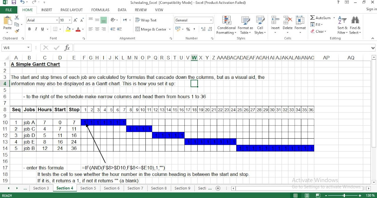 Production Scheduling Excel Template - ENGINEERING MANAGEMENT