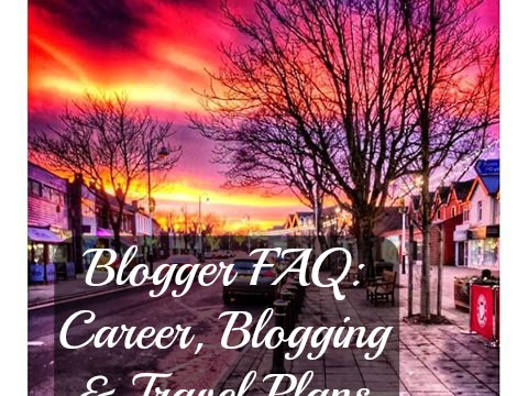 BLOGGER FAQ - EVENTS INDUSTRY, BLOGGING GOALS, TRAVEL PLANS