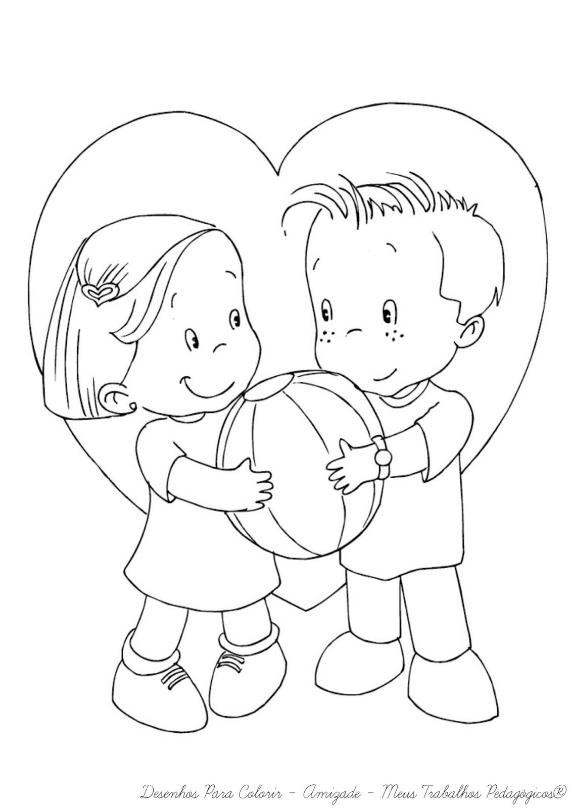 Meus Trabalhos Pedagógicos ®: Desenhos para colorir dia da