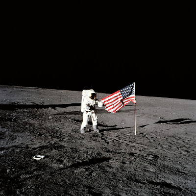 Free Moon Landing Backgrounds Download PowerPoint Tips