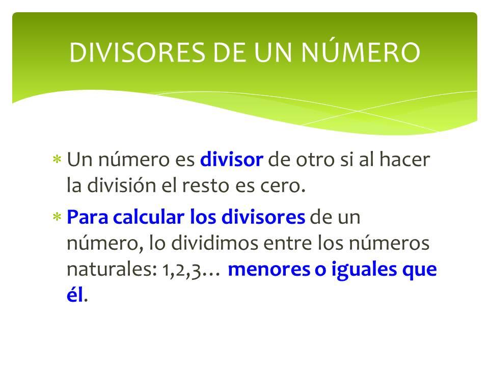 Resultado de imagen de múltiplos y divisores de un número