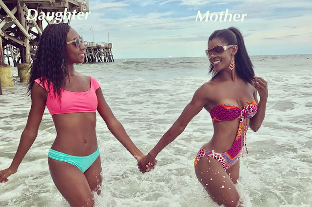 Meet the bikini-clad mum,46 who looks like as young as her 17 year old daughter
