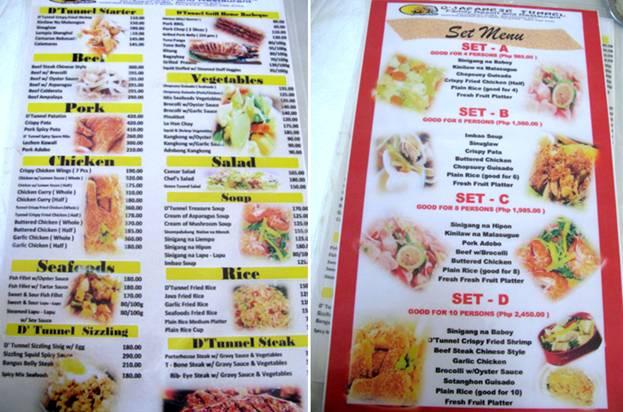 The Other Place Restaurant Batangas City Menu