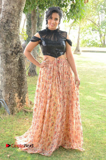 Actress Chetana Uttej Stills in Floral Long Skirt at Pichiga Nachav Movie Press Meet  0098.JPG